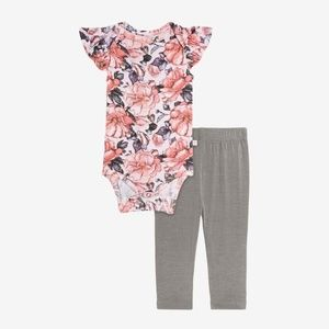Vivi Floral Bodysuit Pajamas 3-6 months